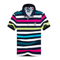 Polo Masculina Tace & Shark Listrada Purple-Polos-Florida Outlet