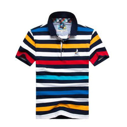 Polo Masculina Tace & Shark Listrada Rainbow-Polos-Florida Outlet