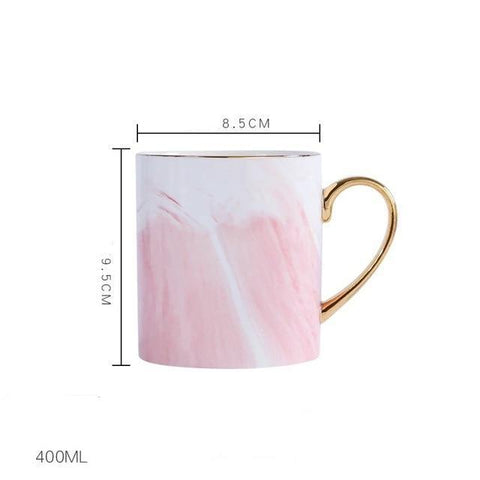 Xícara Lekoch Design Mármore Europeu Morning Mug
