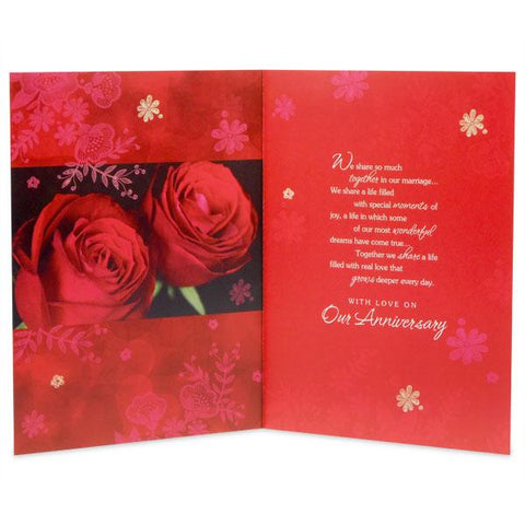 Stylish Anniversary Greeting Card