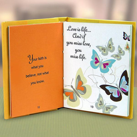 Hope Faith & Love Quotation Book