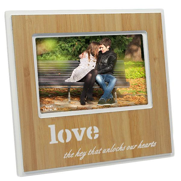 Adorable Love Wooden Finish Photo Frame