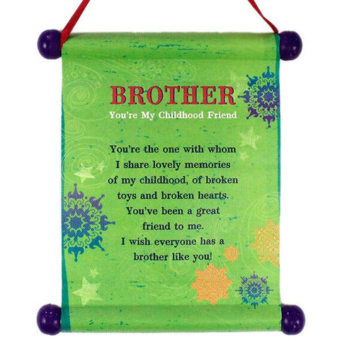 Amusing Brother Scroll (Pack Of 4)