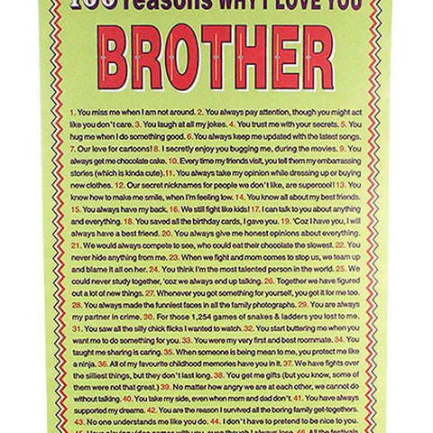 100 Reasons Of Loved Brother