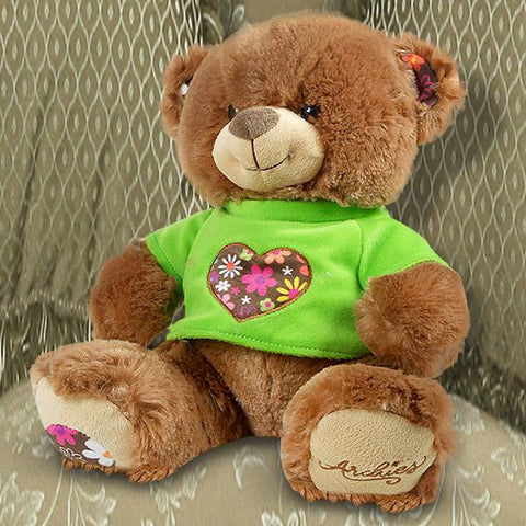 Brown Bear With Green T-Shirt - 11.8 Inch