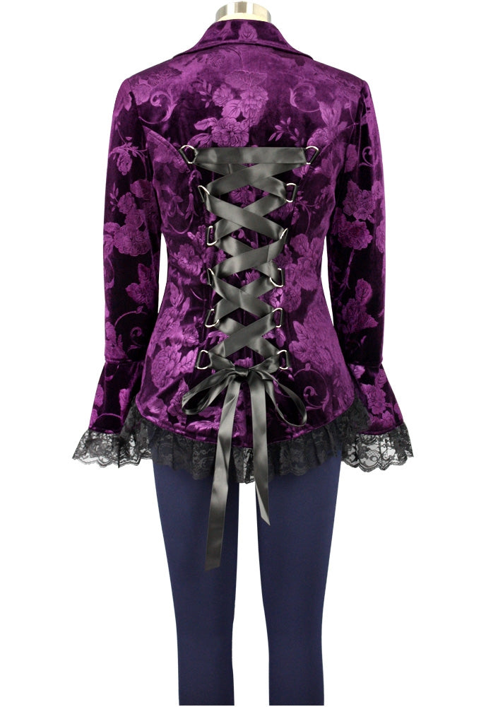 Strut Velvet Jacket - Midnight Purple