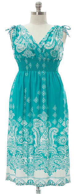 Ainslie Maxi Dress - Aqua