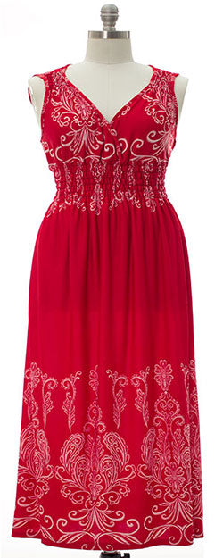 Brooklyn Maxi Dress - Classic Red