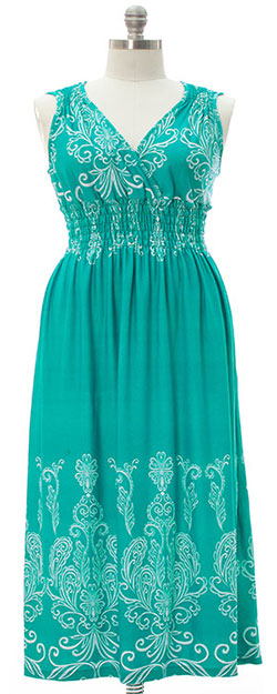 Brooklyn Maxi Dress - Turquoise