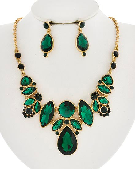 Evania Necklace Set - Emerald