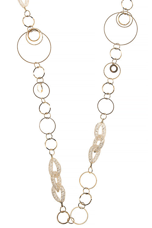 Looped in style Necklace - Gold tone