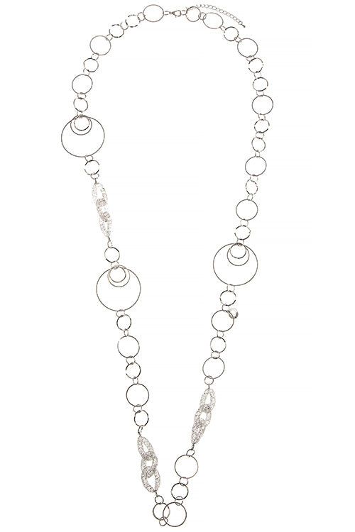 Looped in style Necklace - Silver Tone