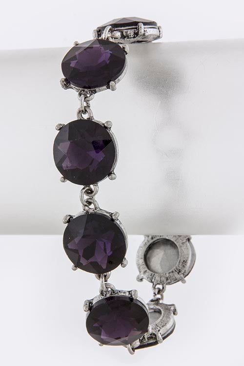 Gypsy Bracelet - Deep Purple