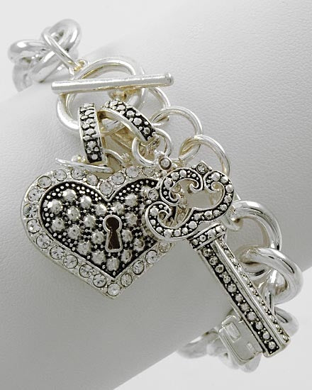 Locked up Charm Bracelet