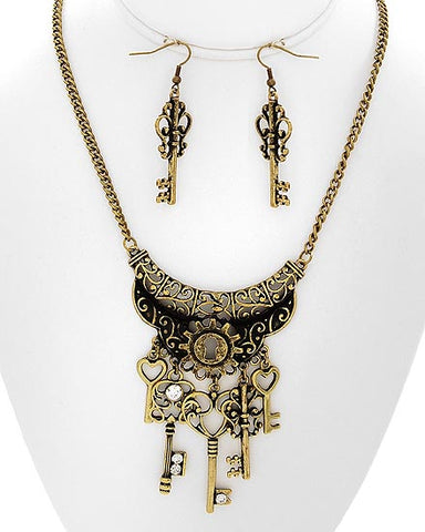 Cassia Necklace & Earring Set
