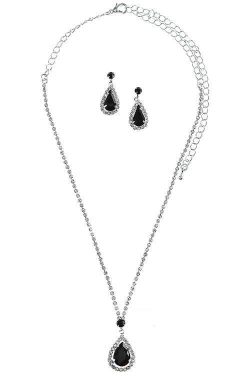 Ophelia Necklace Set - Black
