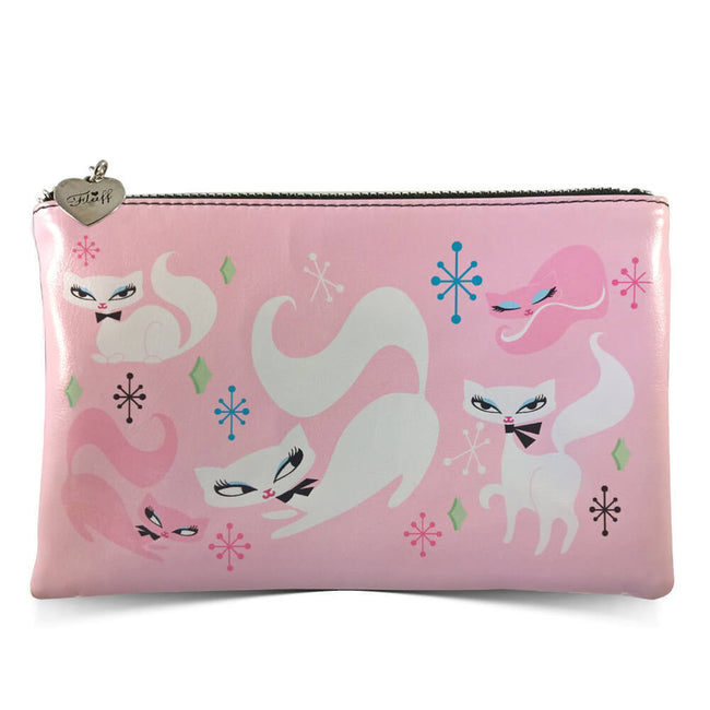 Retro Cosmetic Bag - Swanky Kittens