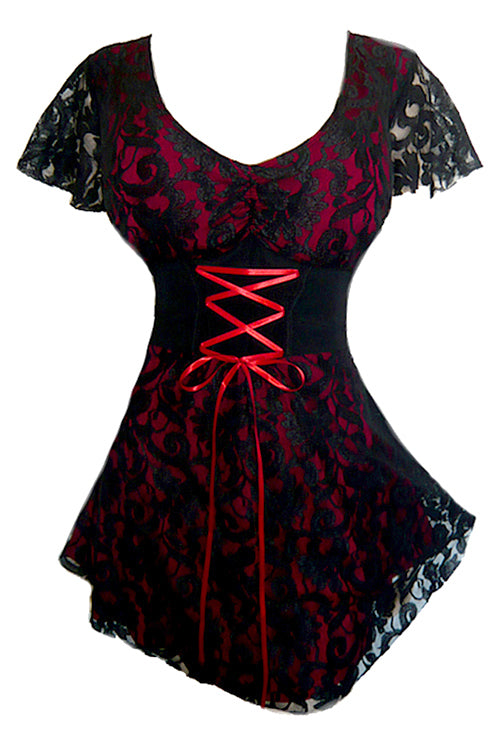 Sweetheart Corset Top - Red Crush