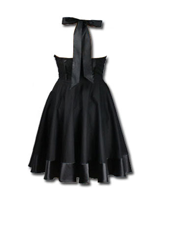 Cotton Swing Dress - Black