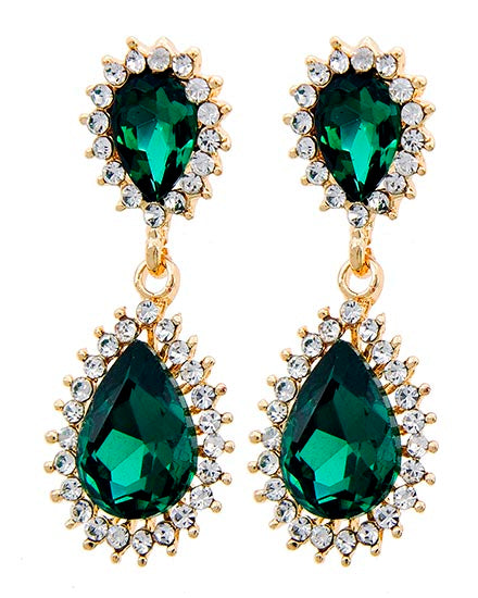 Victoria Earrings - Emerald
