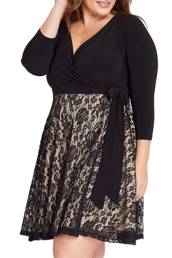 Claire Faux Wrap Dress
