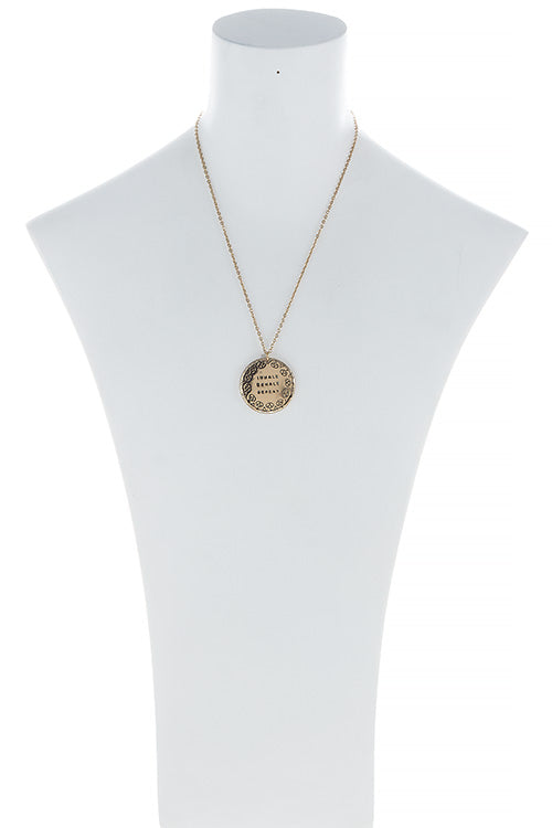 Zen Pendant Necklace - Gold Toned