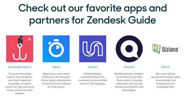 Zendesk features Diziana as recommended partner
