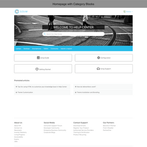 Diziana Golm Theme Homepage with Category Blocks