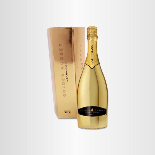 Golden Nugget mit Goldbarrenverpackung Sekt 0,75L