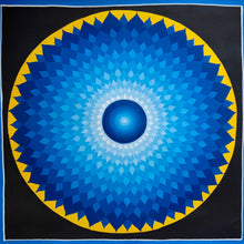 Blue Lotus Visualisation Mandala