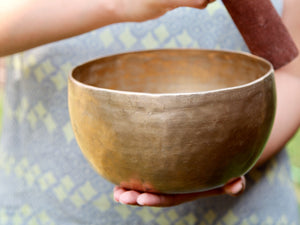 Old 'Tara' Singing Bowl - Base Note  F (171 Hz)