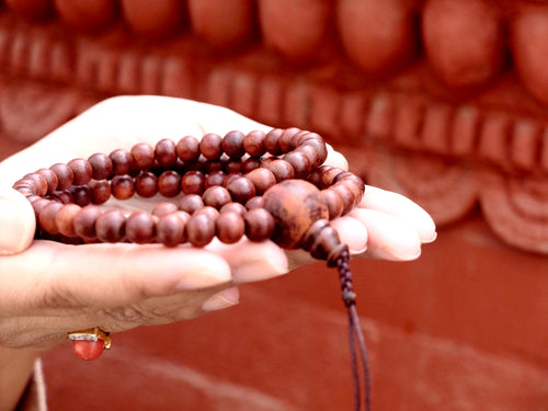 Natural Finish Rosewood Mala