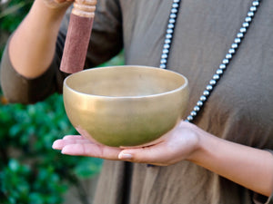 13.5 cms Contemporary Flow Singing Bowl - Base note F# (374) Hz