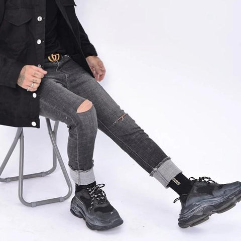 7044 HD PANTS IN GREY