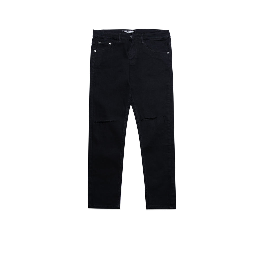 DESTROYED PANTS IN BLACK 6908
