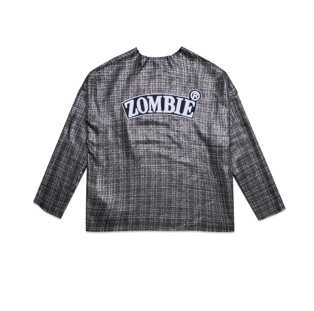 ZOMBIE® Stripes Destroyed Hem Sweater