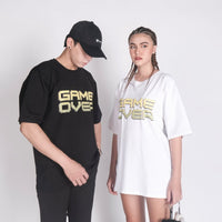 7281 GAME OVER TEE IN BLACK