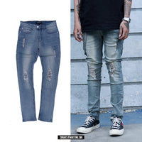 #1 DESTROYED BLEACHED JEANS