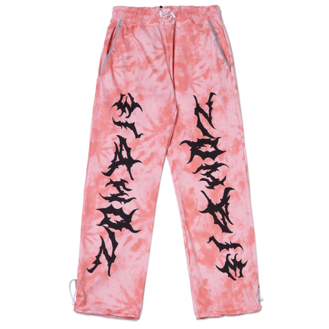 Tiedye ZOMBIE Printed Pants In Pink