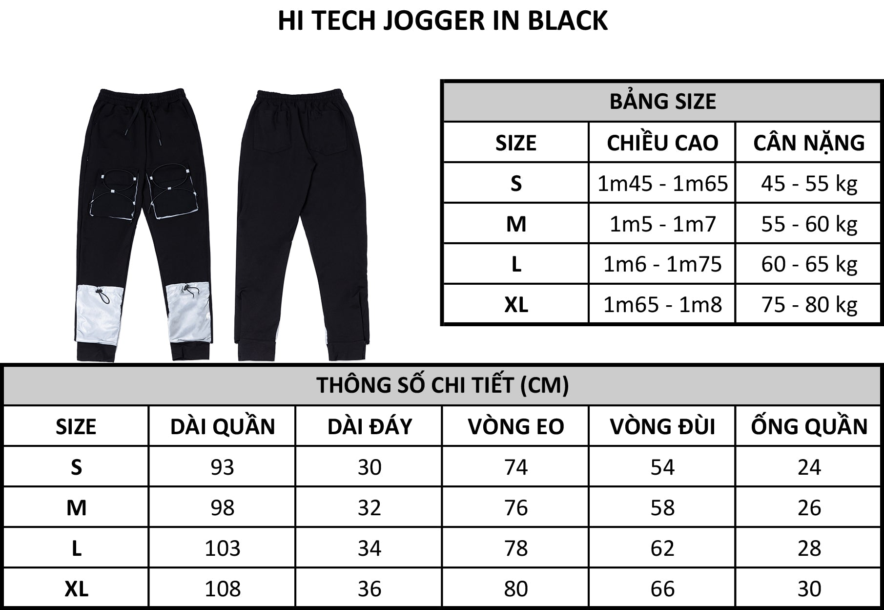 HI TECH JOGGER IN BLACK
