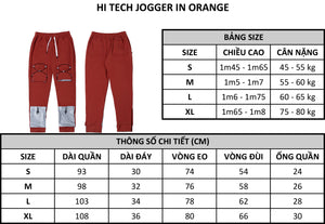 HI TECH JOGGER IN ORANGE