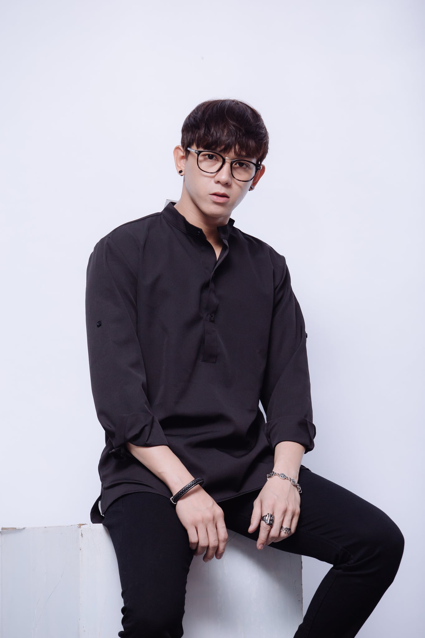 000388 OXFORD SHIRT IN BLACK