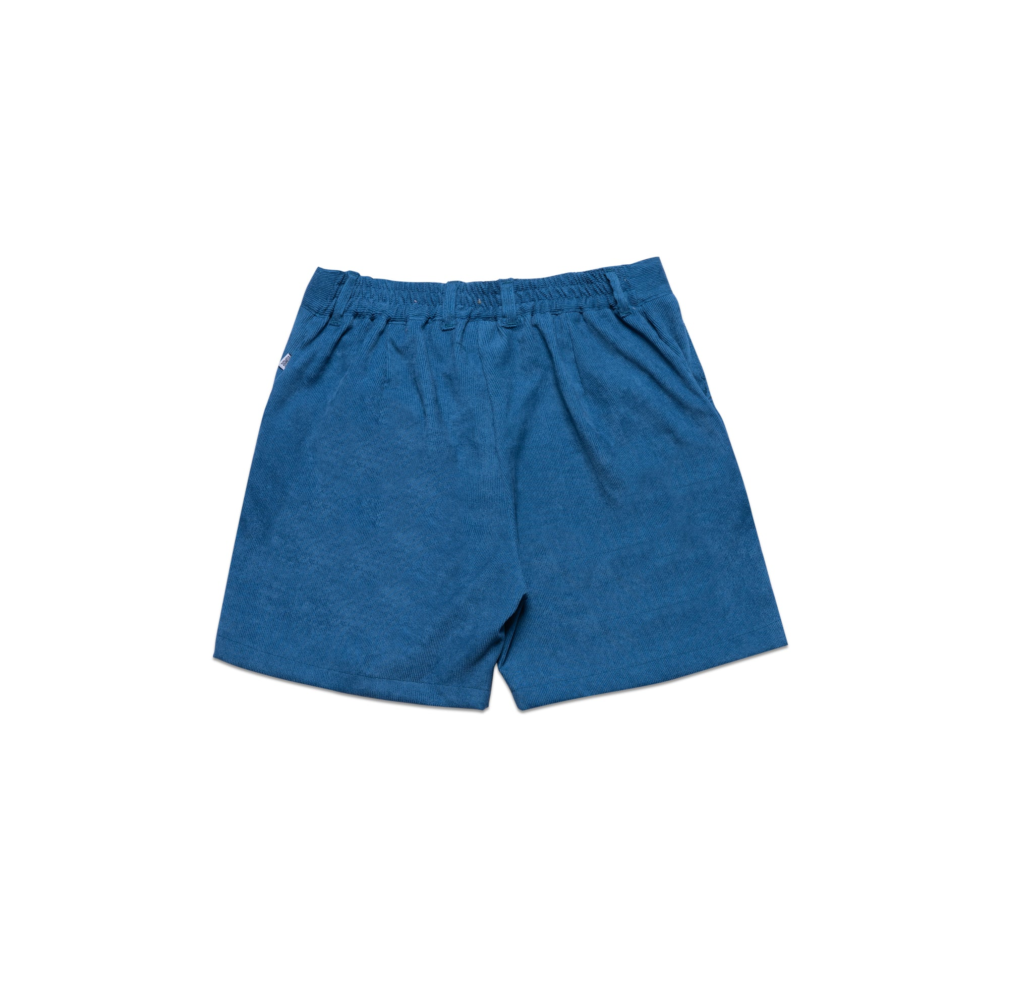 SUEDE SHORT PANTS IN BLUE