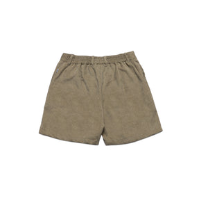 SUEDE SHORT PANTS IN OLIVE