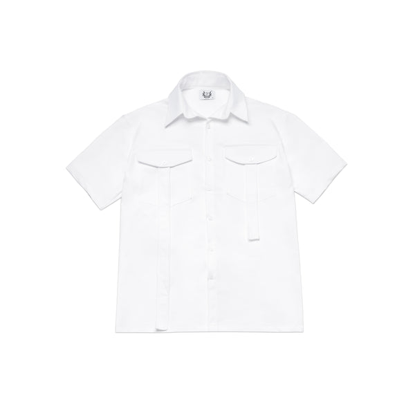SHORT SLEEVE SHIRT IN WHITE