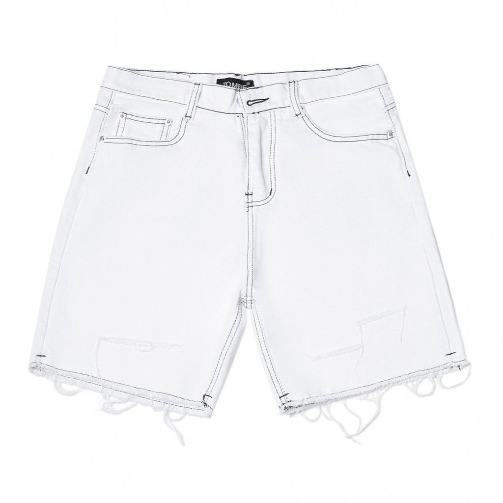 HD RIPPED SHORT IN WHITE