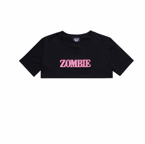 SET ZOMBIE-PINK CROPTOP-BLACK