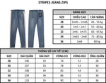 7824 STRIPES JEANS ZIPS