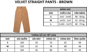 VELVET PANTS - BROWN