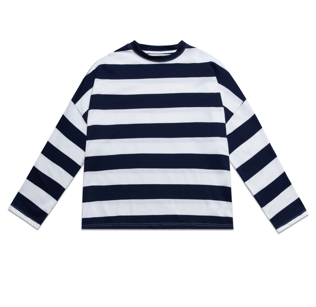 STRIPES SWEATER IN W/B